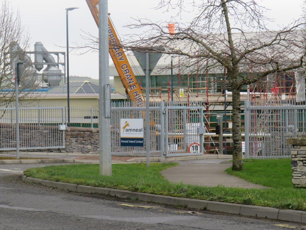 Cordis Site Cashel TGW to be written on crane and poster out