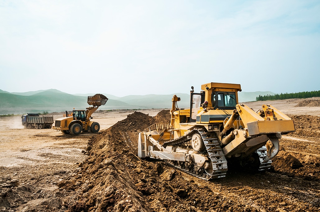 Earthwork-working-machinery